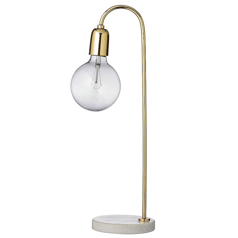 Bordslampa, MässingMarmor