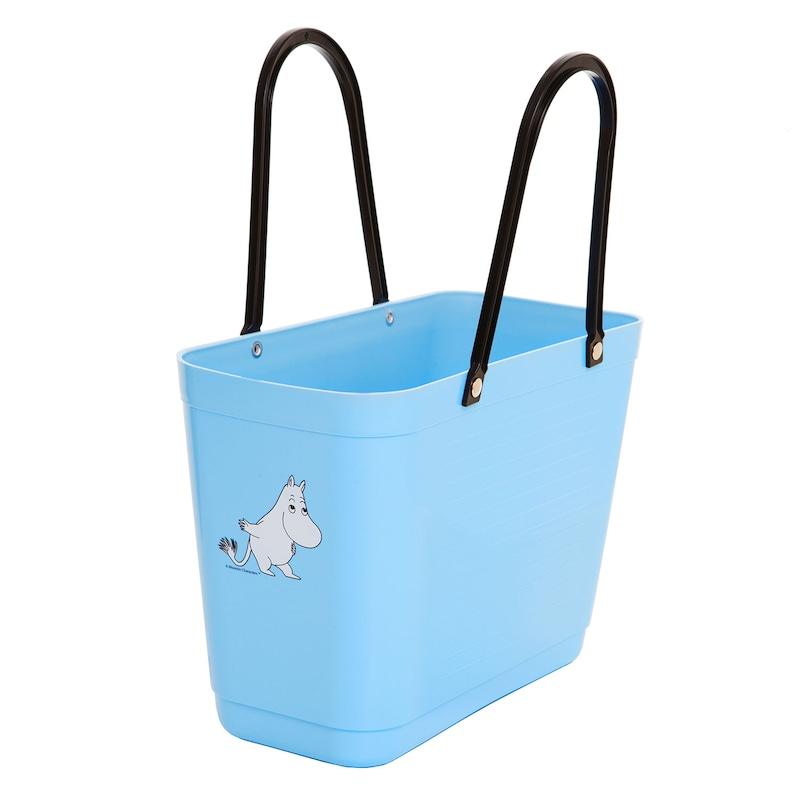 Hinza Väska Green Plastic Mumin Liten, Ljusblå