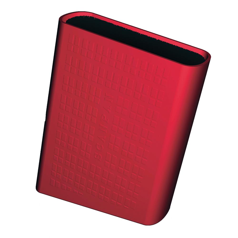 Spectrum Knivblock med borst-förvaring röd