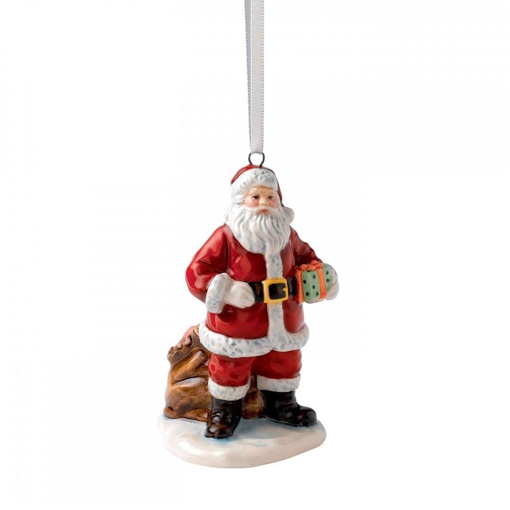 Christmas Ornament Santa and Sack 7,5 cm