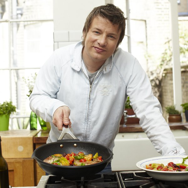jamie oliver cast alu stekpanna 24 cm jamie oliver tefal. Black Bedroom Furniture Sets. Home Design Ideas