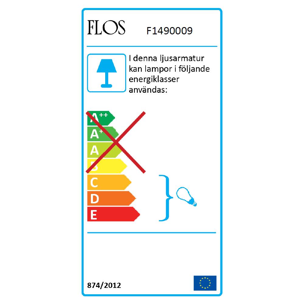 Mini Button Tak/Vägglampa, Glas, Flos