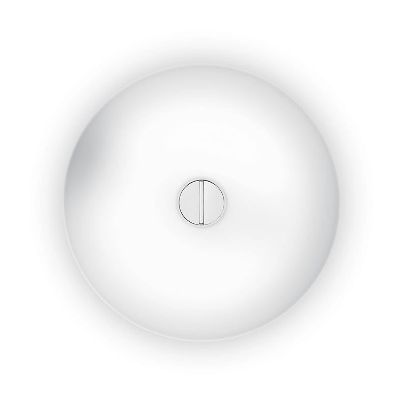 Button Tak/Vägglampa, Opal/Vit, Flos