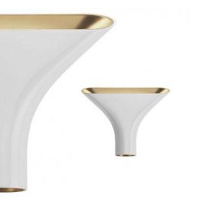 Tau Lampa Aluminium/Guld