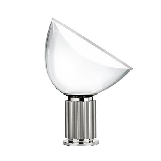 Taccia Small Bordslampa, Aluminium/Vit, Flos