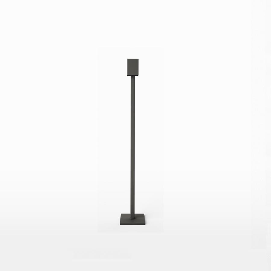 Art Golvljusstake i Järn 100 cm Antracit