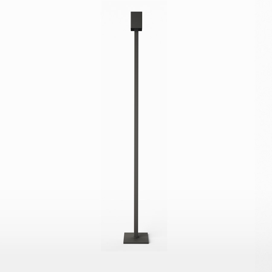 Art Golvljusstake i Järn 140 cm Antracit