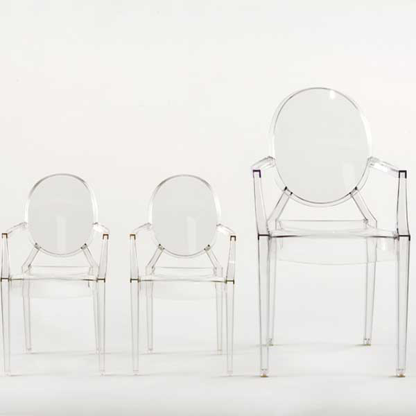 lou lou ghost stol baby kristall philippe starck. Black Bedroom Furniture Sets. Home Design Ideas