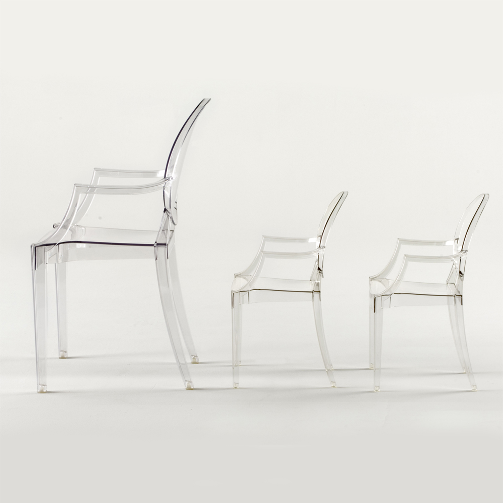 Lou Lou Ghost Stol Baby, Kristall, Kartell