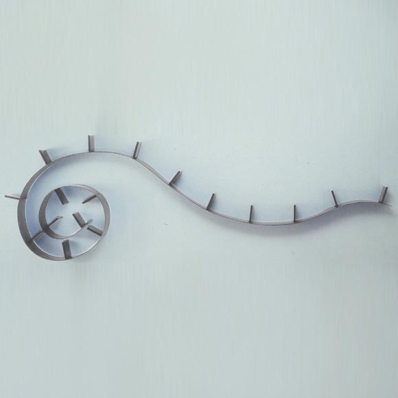 Bookworm Bokhylla Stor Aluminium