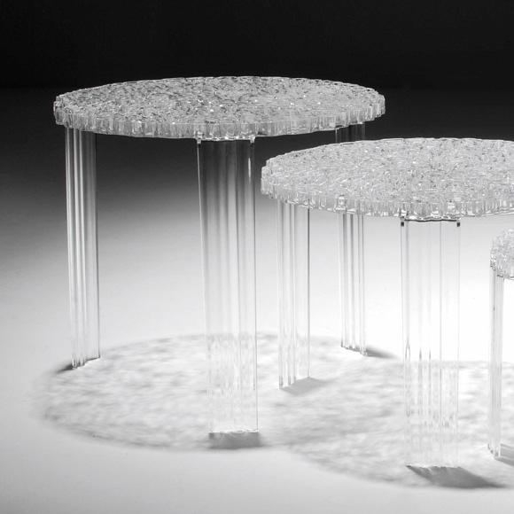Kartell T-Table Sidobord II, Kristall
