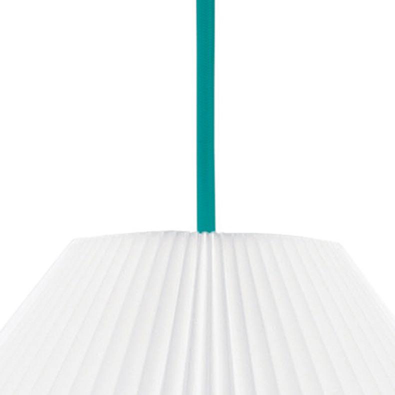 Upphäng till taklampa textilsladd 3m Grön E27