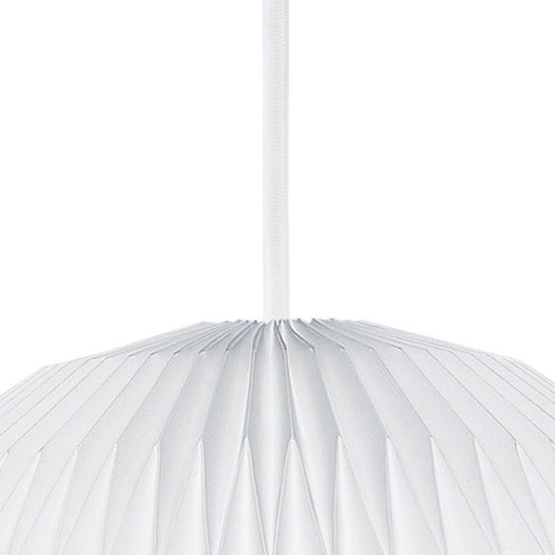 Upphäng till taklampa textilsladd 3m vit E27
