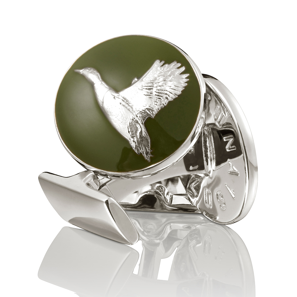 The Hunter Manschettknappar Flying Duck Silver/Gr