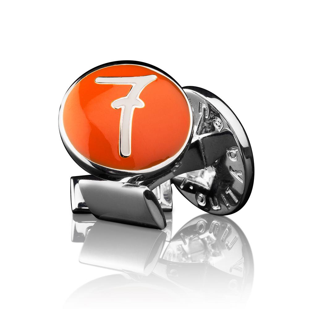 Lino Ieluzzi Manschettknappar Silver/Orange