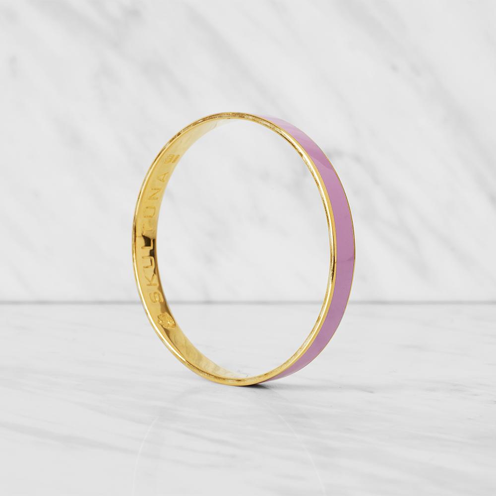 Thin Bangle Armband S Rosa