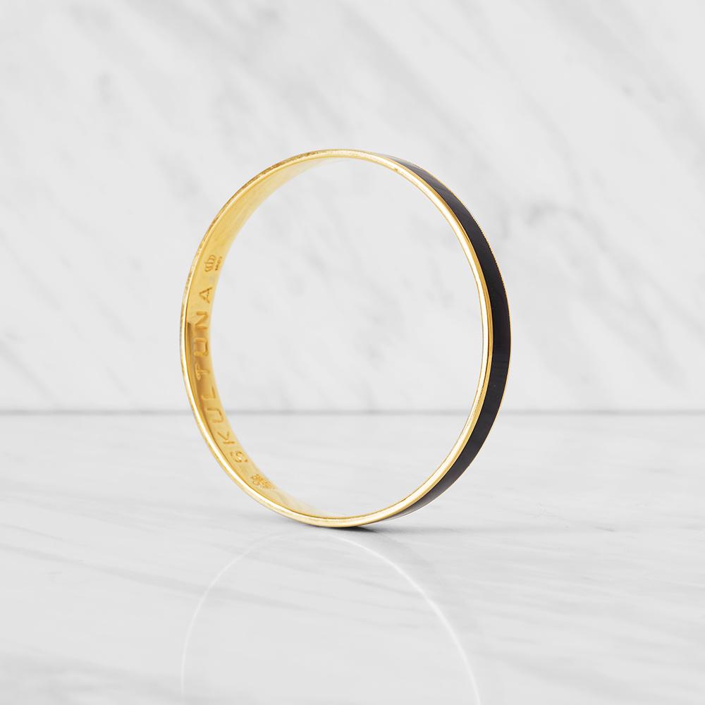Thin Bangle Armband S Plommon Lila