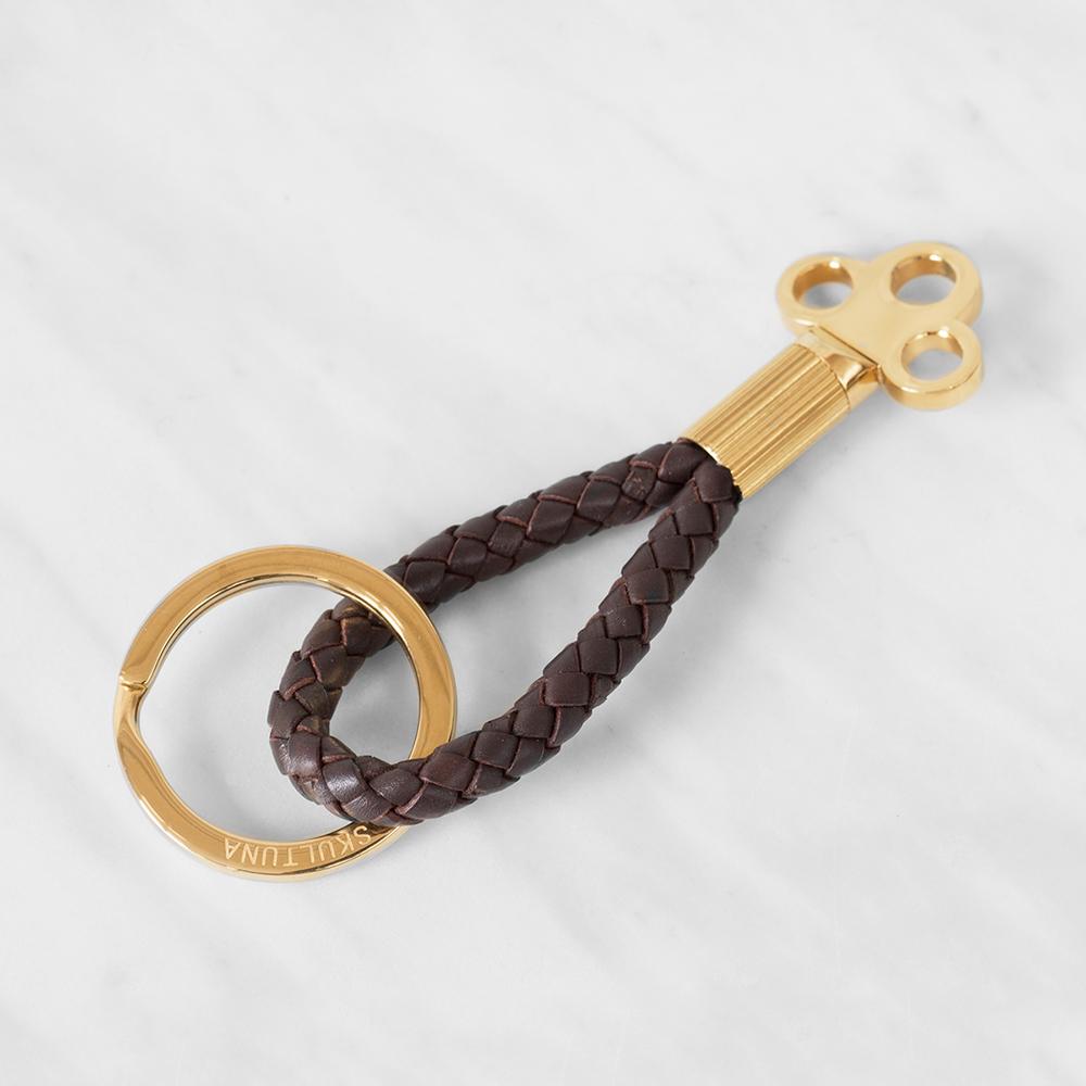 The Key Nyckelring Mörkbrun/Guld