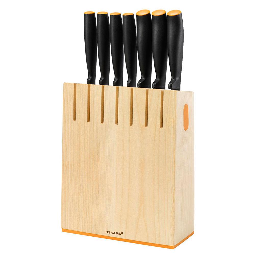 Functional Form Knivblock med 7 knivar Trä