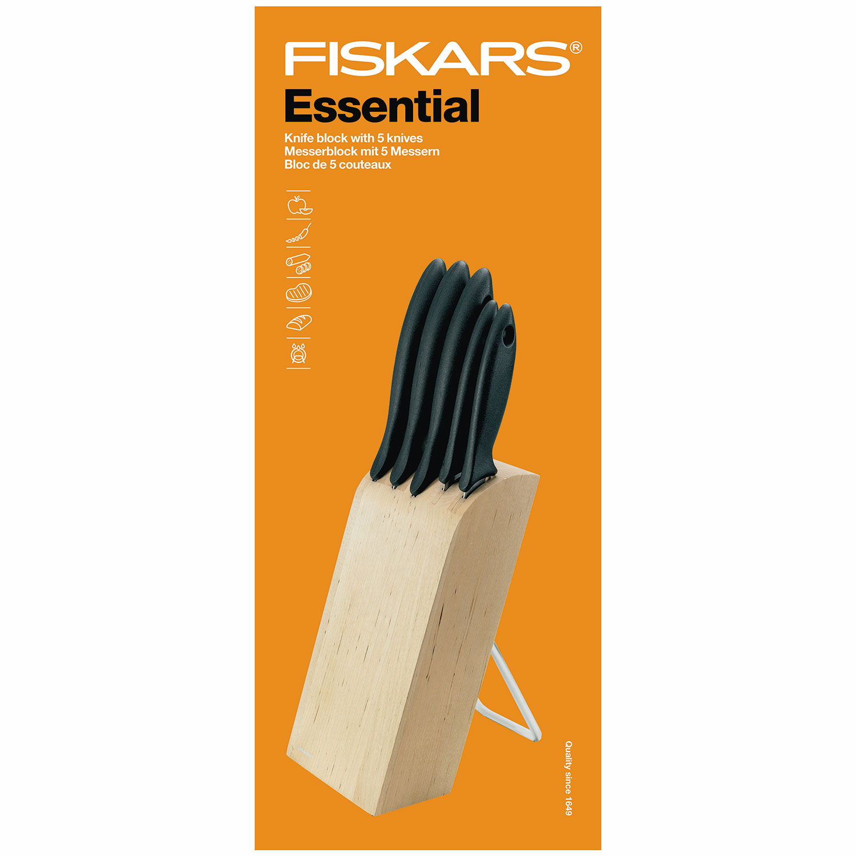 Essential Knivblock Med 5 Knivar