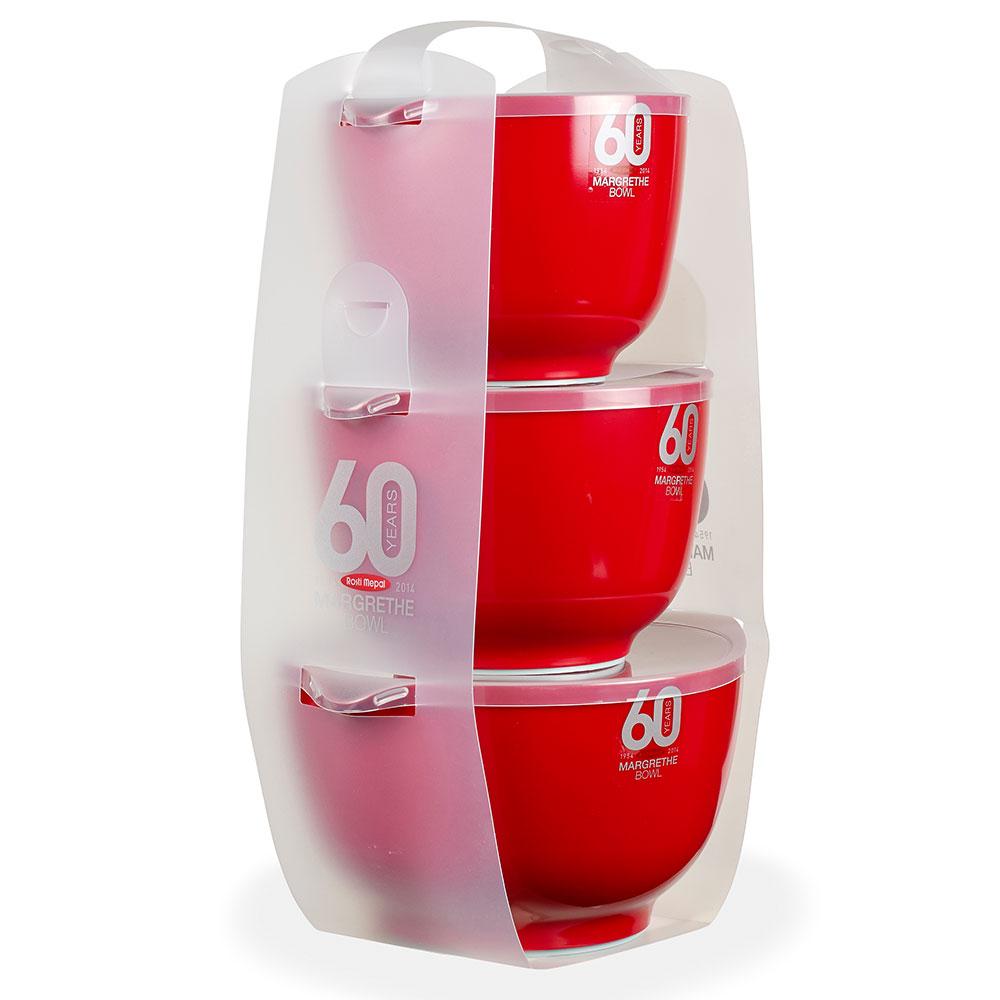 Rosti Margretheskålset 6-delar,1.5+2+3L+lock Röd
