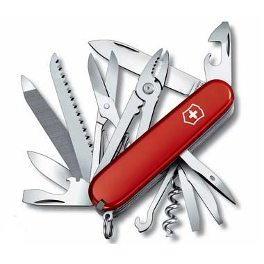 Fickkniv Handyman röd Original Swiss Army 91 mm