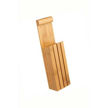 Knivblock, plats för 3 knivar, bambu