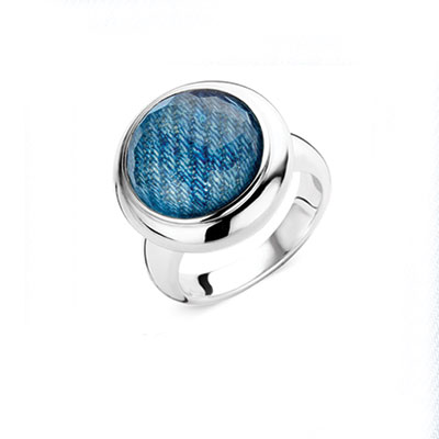 Ti Sento Ring Denim Silver
