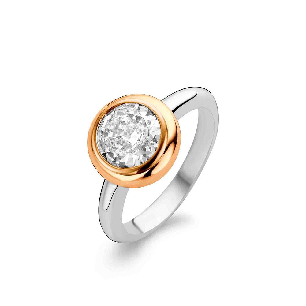 Ti Sento Ring Liten Silver/Brons