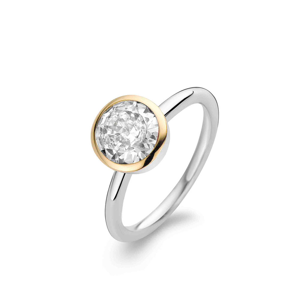 Ti Sento Ring Silver/Guld Sten