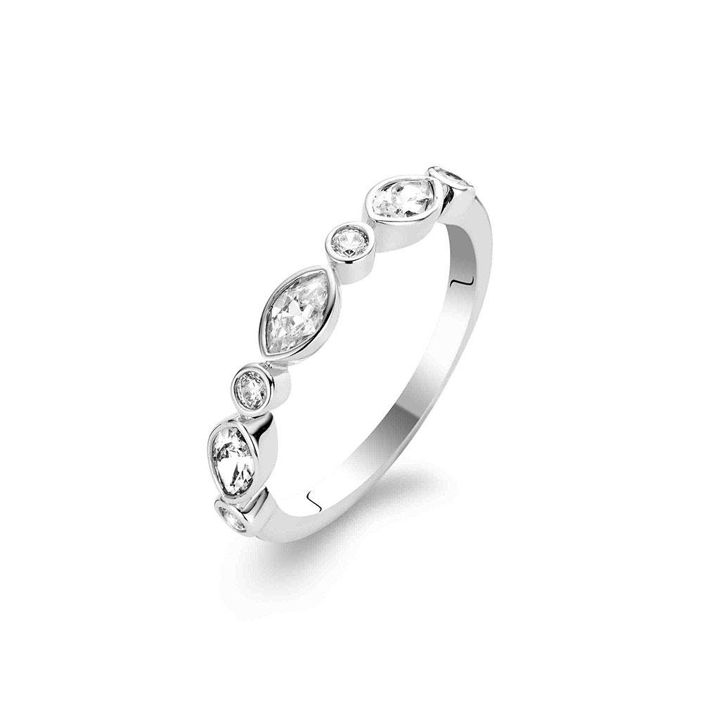 Ti Sento Ring Ädelsten Silver