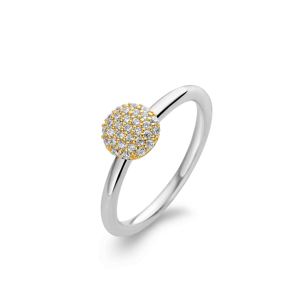 Ti Sento Ring Boll Guld/Silver
