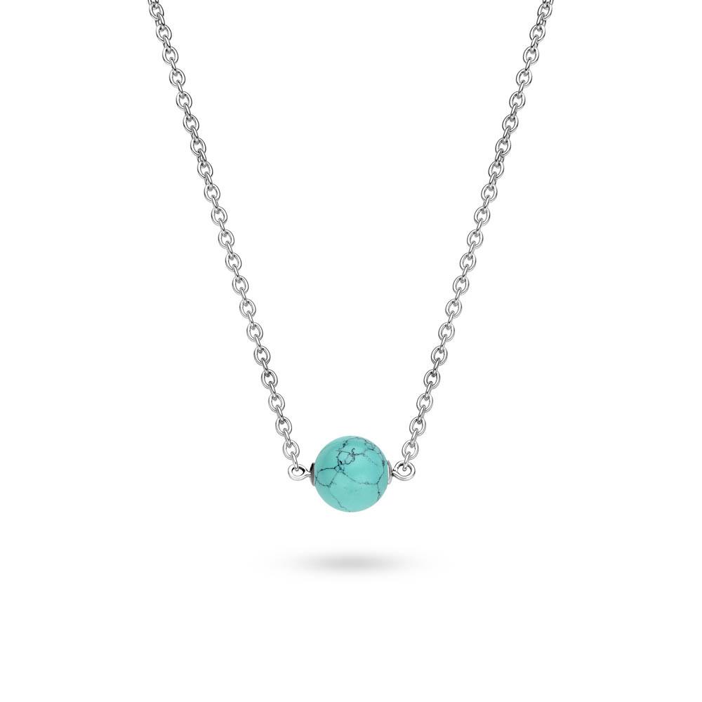 Köpa Ti Sento Halsband med rund turkos sten 42 cm billigt från Royal ... f79fa4d00deee