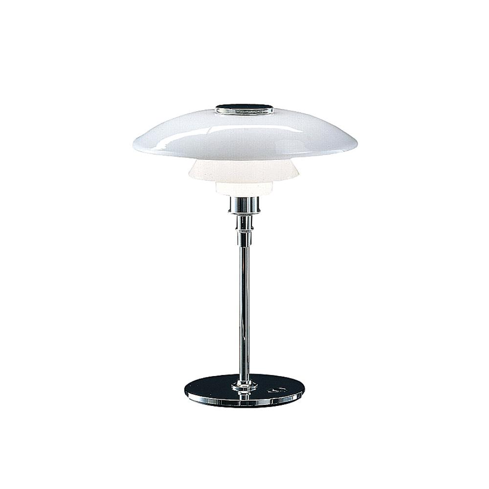 PH 4 1/2-3 1/2 Glas Bordslampa vitt opalglas