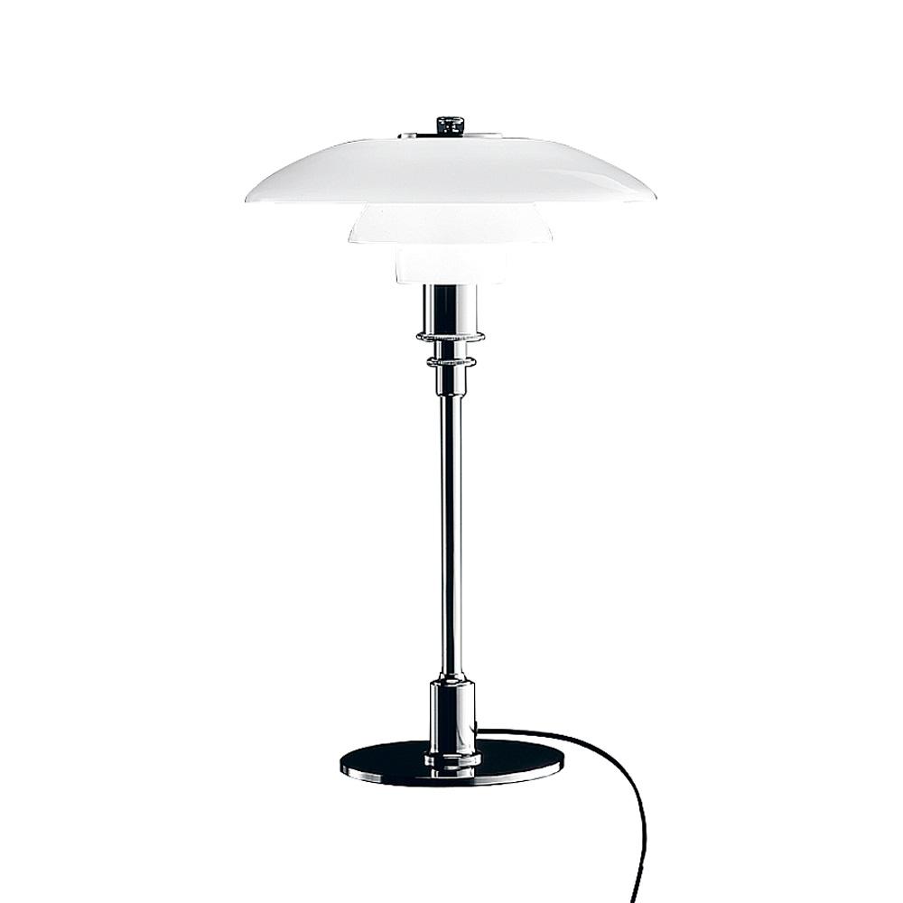 PH 3/2 Bordslampa, glas/förkromad högglans, Louis Poulsen