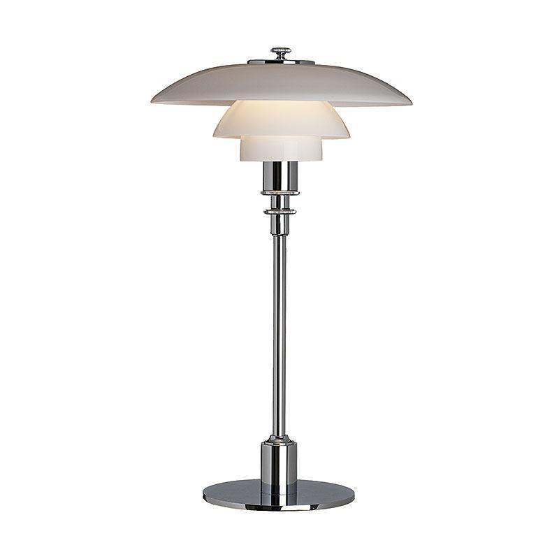 PH 2 1 Bordslampa, glas förkromad högglans Poul Henningsen Louis Poulsen RoyalDesign se