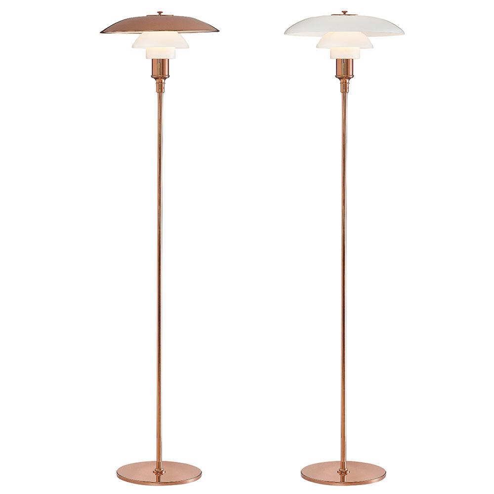 PH 3 u00bd 2 u00bd Golvlampa Limited Edition, Koppar Poul