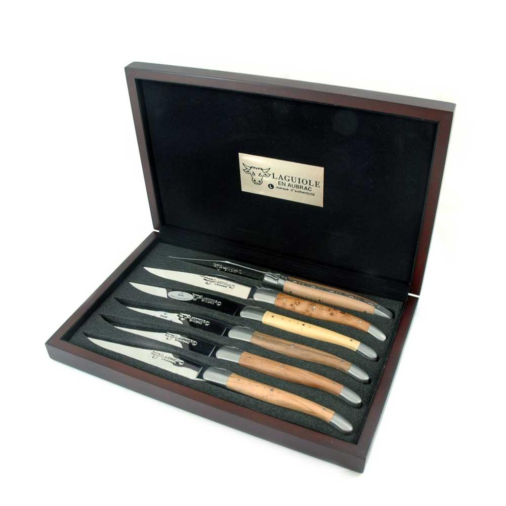 Stekknivar, 6 st, mix träslag, rfr