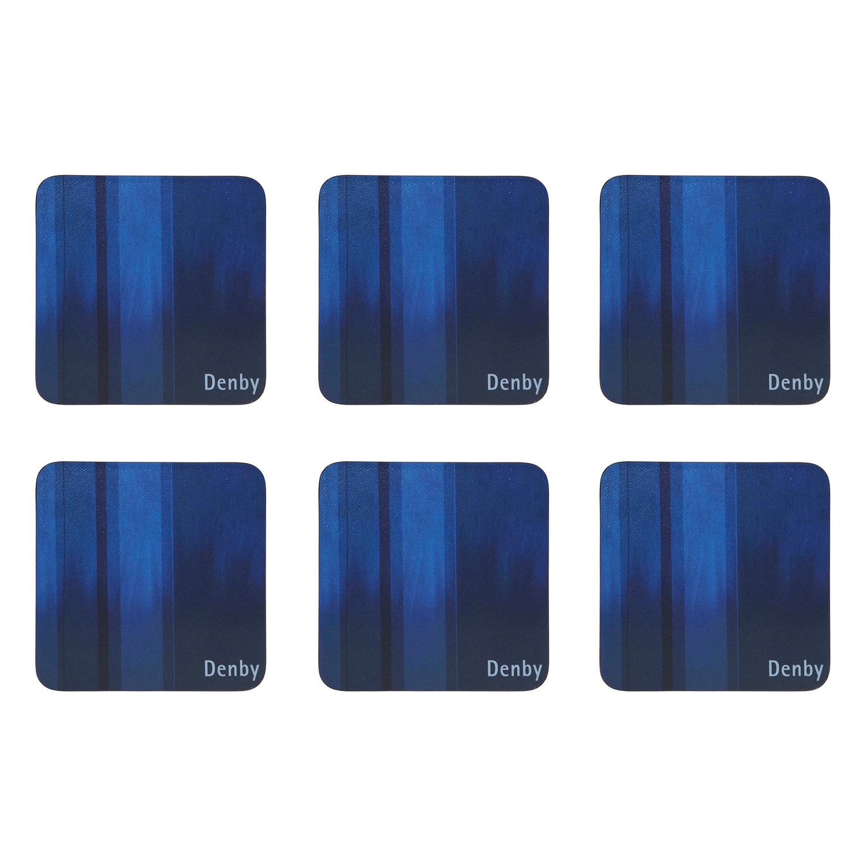 Colours Glasunderlägg 6-Pack, Blå, Denby