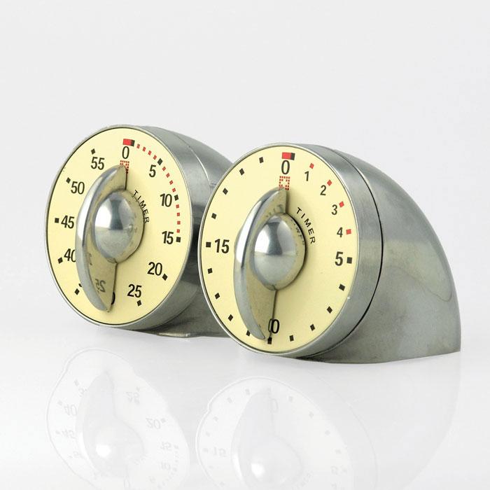 Bengt Ek Design Dubbel Timer 60 min, 20min, Polerad Alu.