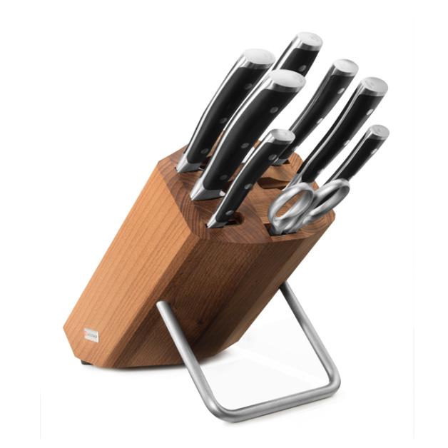Classic Ikon Knivblock Med 8 Delar (trä)