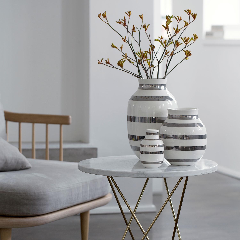 Omaggio Vas Large, Silver, Kähler