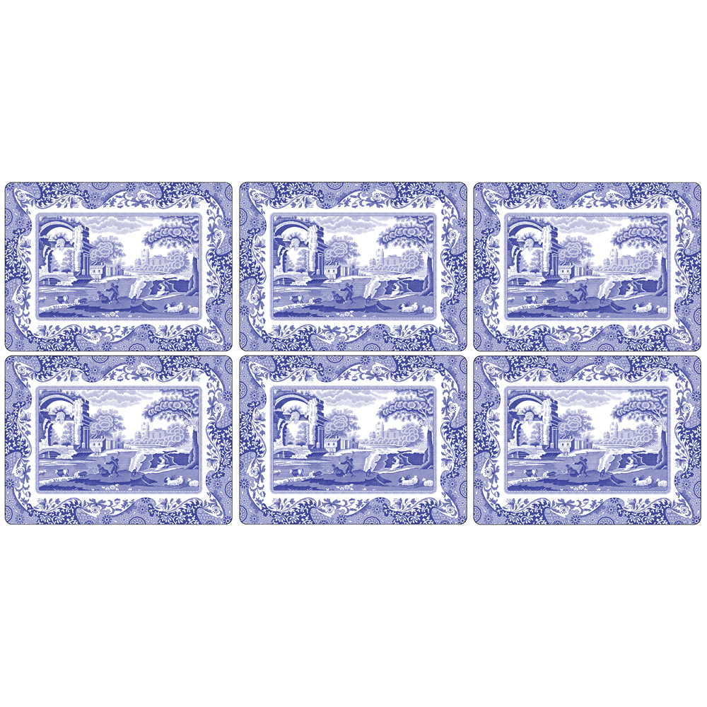 Blue Italian Bordstablett 6-Pack 305 mm x 230 mm