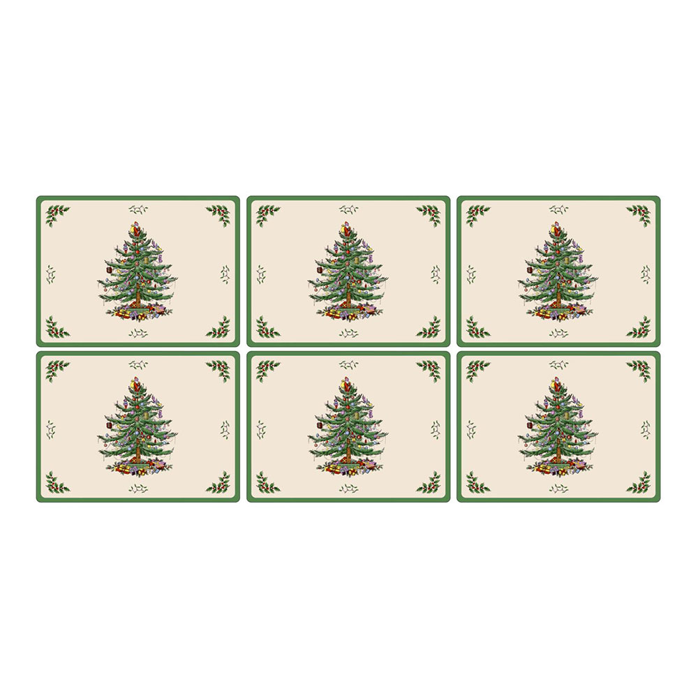 Christmas Tree Bordstablett 30,5×23 cm 6-pack