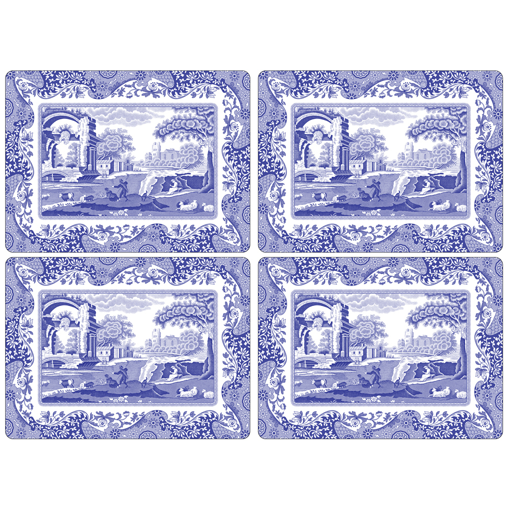 Blue Italian Bordstablett 4-Pack 401 mm x 290 mm