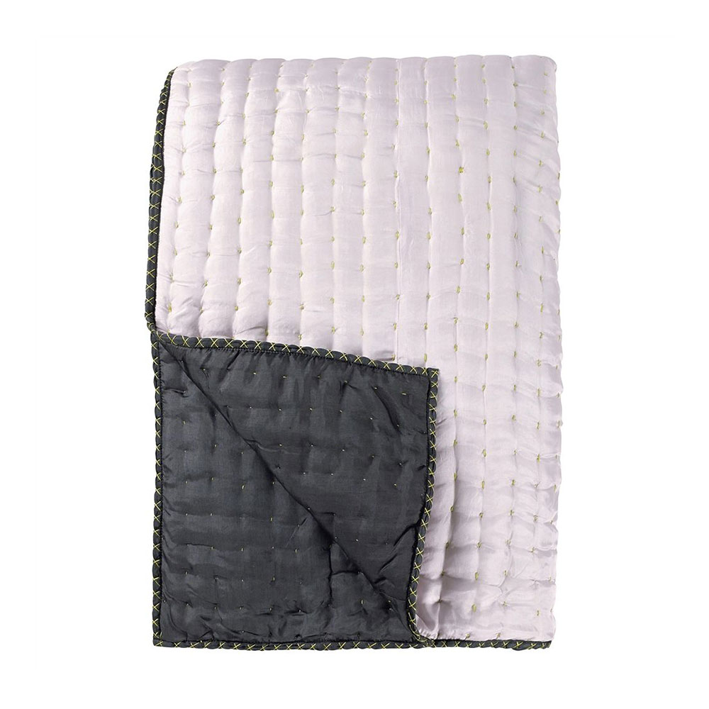 Designers Guild Chenevard Pale Rose & Slate Quilt
