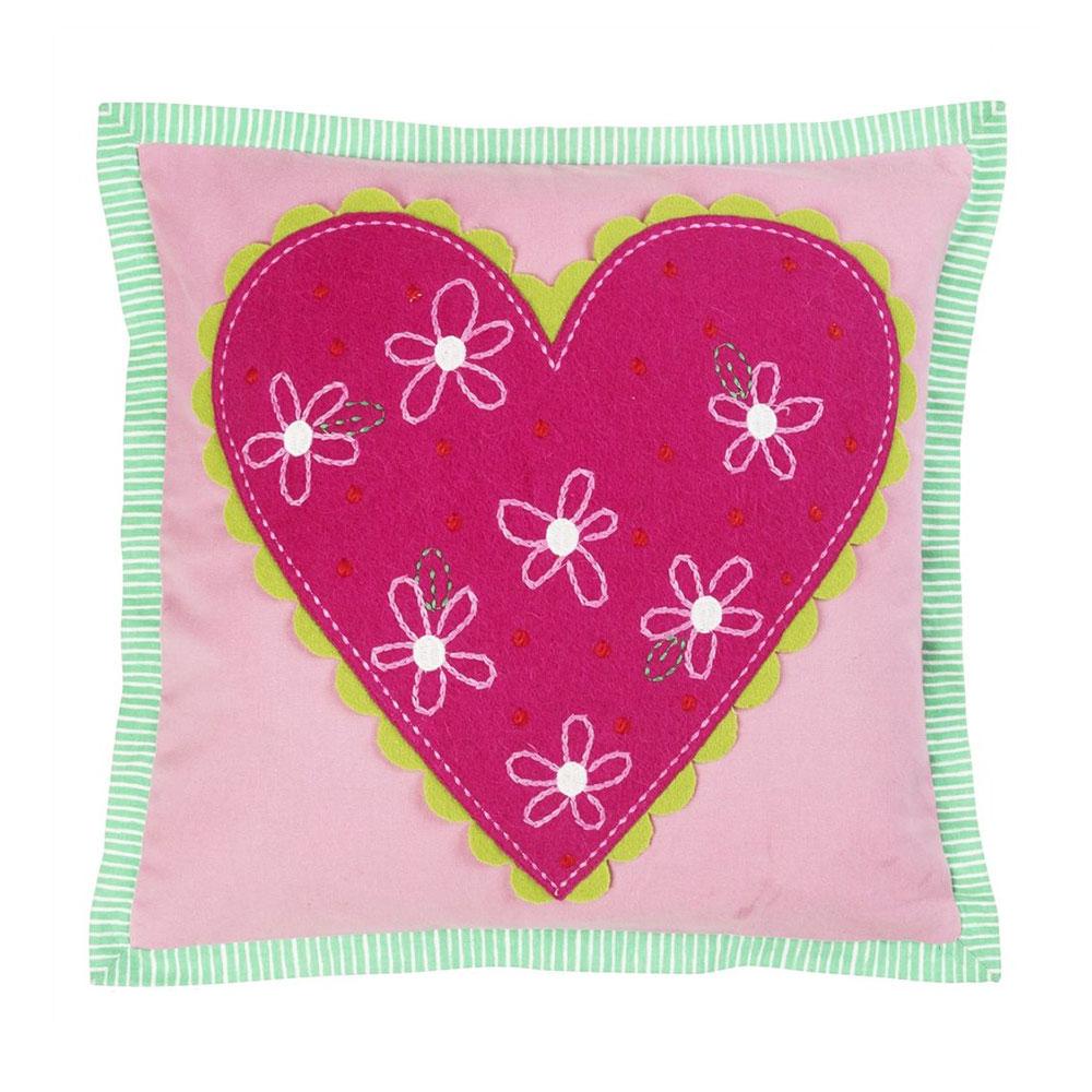 Hearts A Flutter Candytuft Kudde 40x40cm