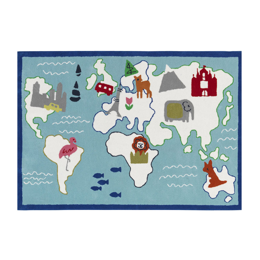 Designers Guild Kids Around The World Aqua Matta