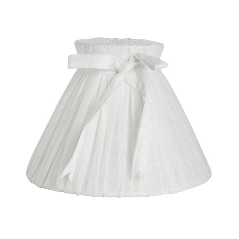 Bow Linen, Lampskärm 26 cm, Vit