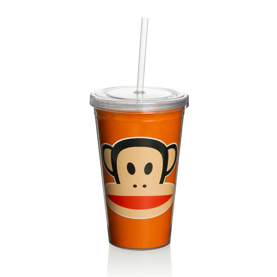 Paul Frank Mugg Med Sugrör Orange